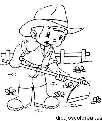 Imagen Para Colorear De Ninos Buscar Con Google Dia Del Campesino Paginas Para Colorear De Animales Libro De Colores