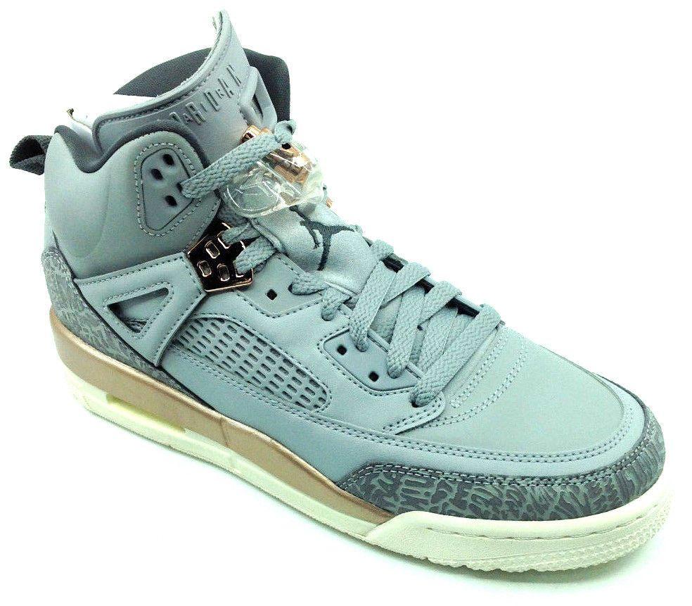 37f4f9f19ada02 eBay  Sponsored Jordan Spizike - Girls GS Basketball Shoes 535712018 Size  7.5 Y Gray Gold White