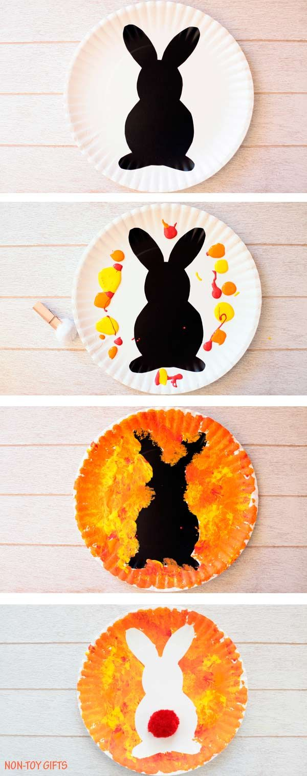 Easter Bunny Craft Kid Made Decoration Easy Art Projects Bunny