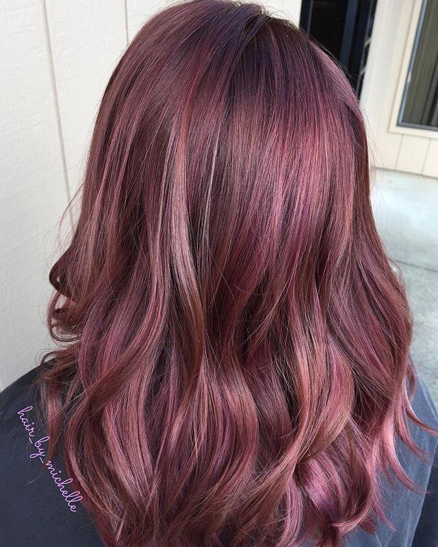 Rose Violet Hair Colour By Michelle