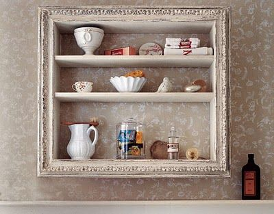 Combine An Old Picture Frame With An Old Wine Crate Or Wooden Box