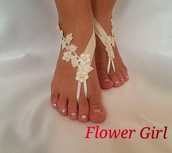 Flowergirlankletembrodeiredbeachweddingby -8247
