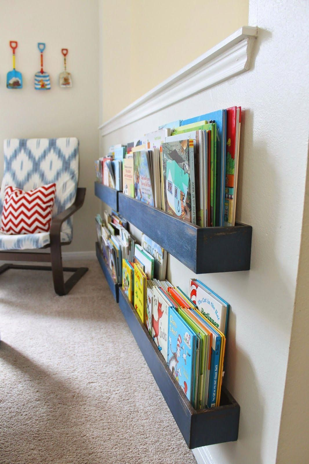 wall mounted book shelf made from simply constructed wood on simply wall street id=34829
