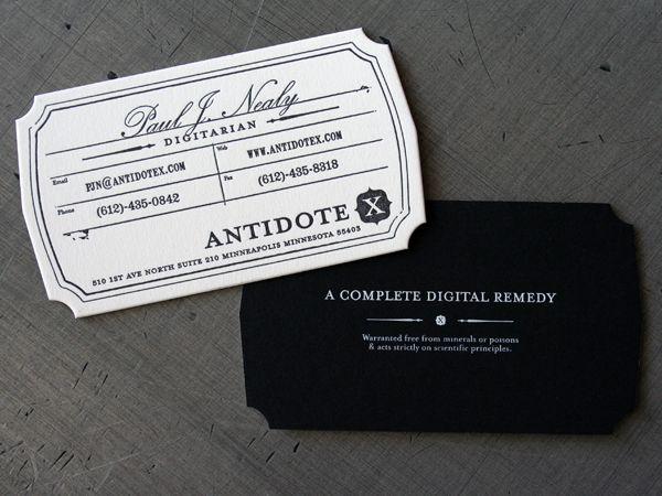 Alt Business Cards Best Letterpress Black White And Color Shape