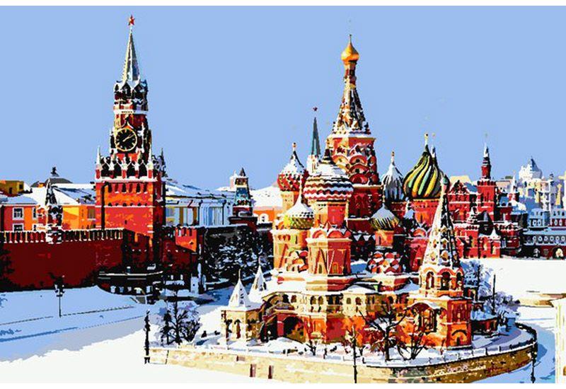 Картина по номерам «Храм Василия Блаженного»   Соборы ...