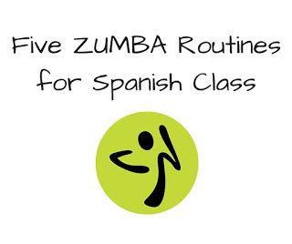 Five fun Zumba routines for Spanish class!