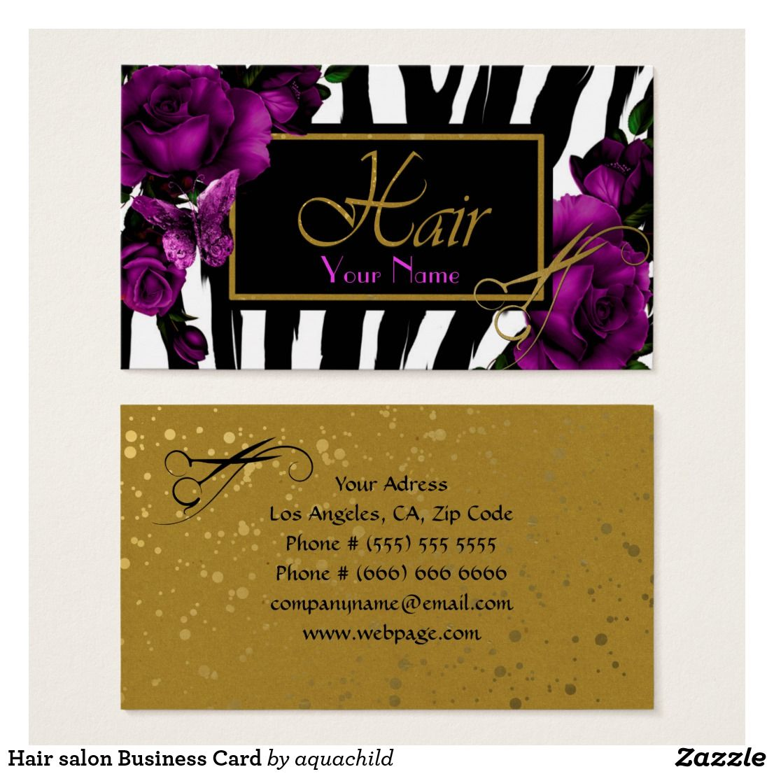 zazzle wedding invitations promo code%0A Hair salon Business Card