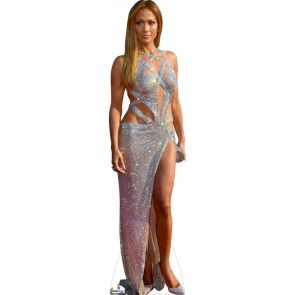 Britney Spears Life Size Cutout Gold Dress