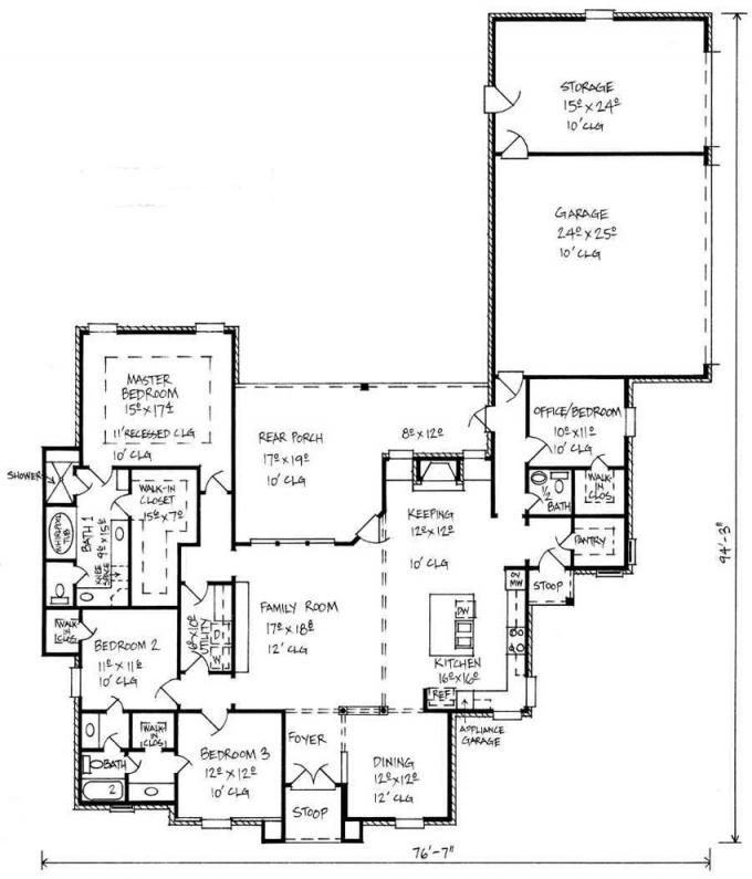 653449 - French Country 4 Bedroom 2.5 Bath House Plan with great ...