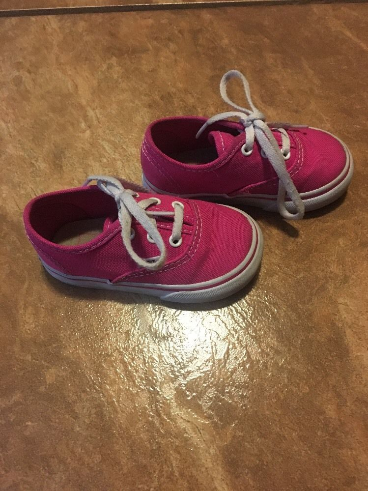 20588b28886 pink toddler girl vans shoes size 5  VANS