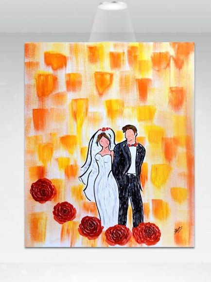Unique Wedding Gifts For Couples Wedding Oil Painting Anniversary Painting Gift Wedding Gifts For Couples Unique Wedding Gifts Anniversary Gifts For Couples