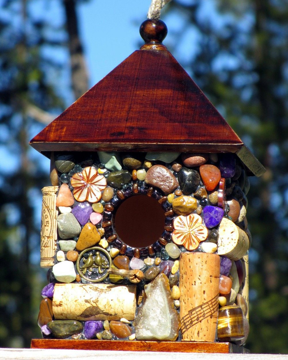 Thanks For The Kind Words This Is Really Well Made I Love The Extensive Variety Of The Decorations Bird Houses Wine Cork Birdhouse Garden Accessories