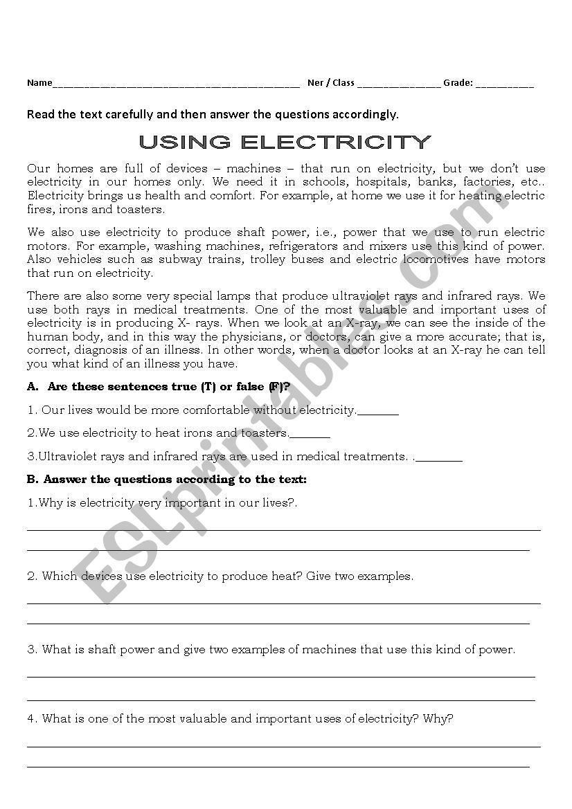 Electrical Power Worksheet Answers Electricity Today Worksheet In 2020 Vocabulary Worksheets Learning Worksheets Printable Worksheets