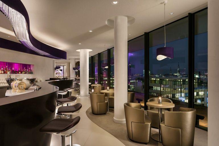 Westin Hamburg Opens In Herzog De Meuron S Brand New Elbphilharmonie Building Mansion Kitchen Hotel Bar Hotel