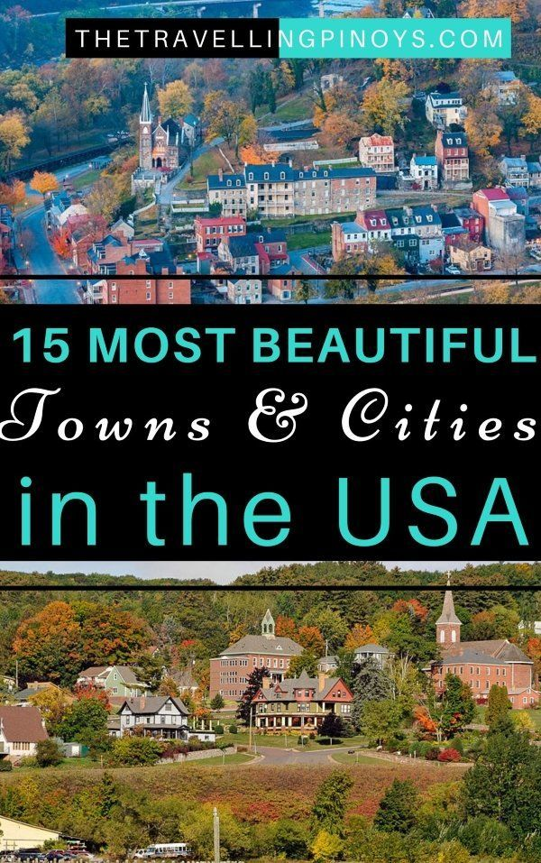 15 Most Beautiful Towns in the USA