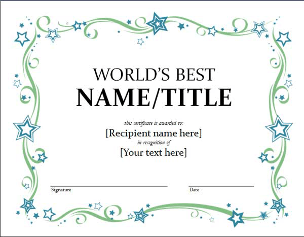 love this certificate template for sparks i actually managed to