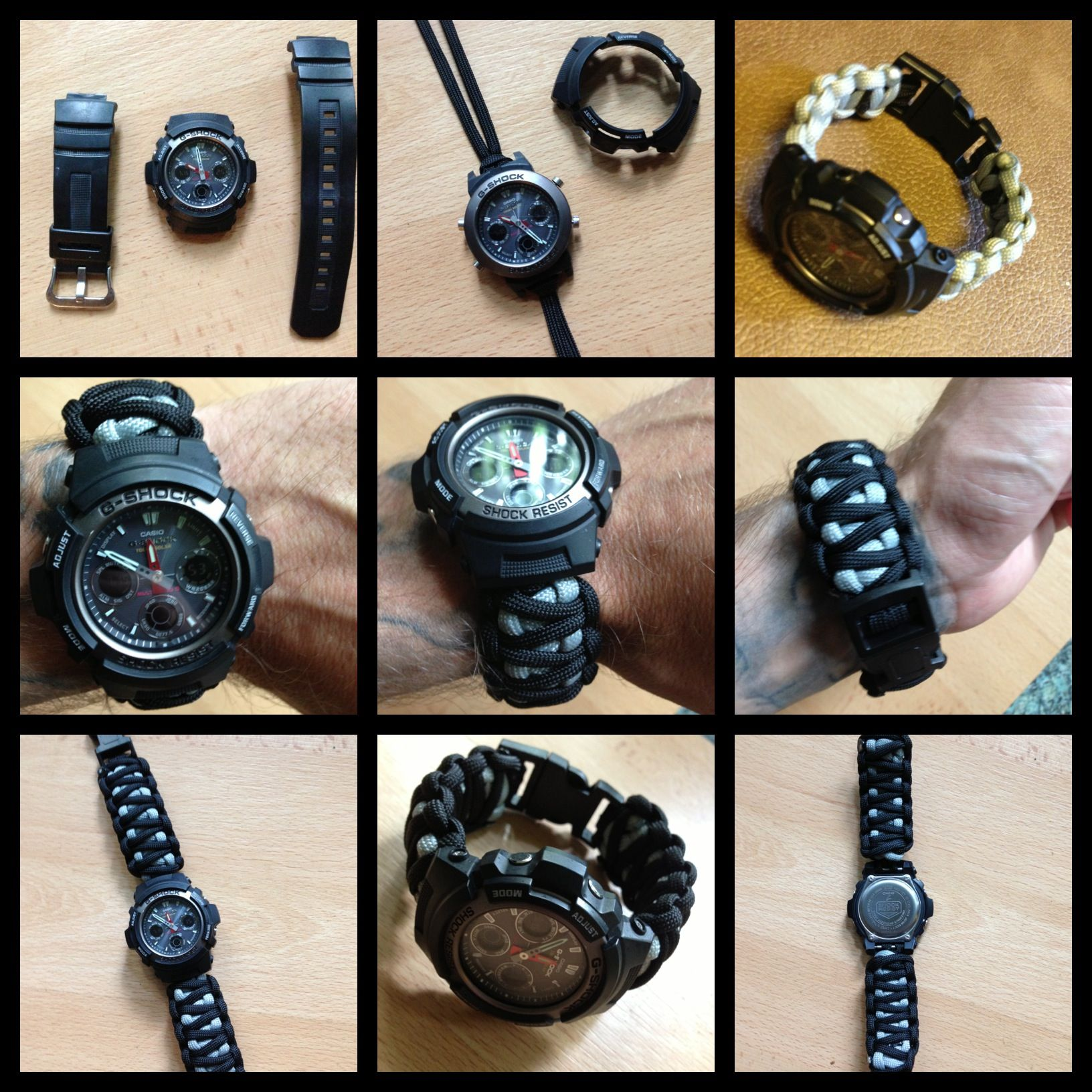 Made a paracord band for my g shock watch things i 39 ve for Cool things to do with paracord