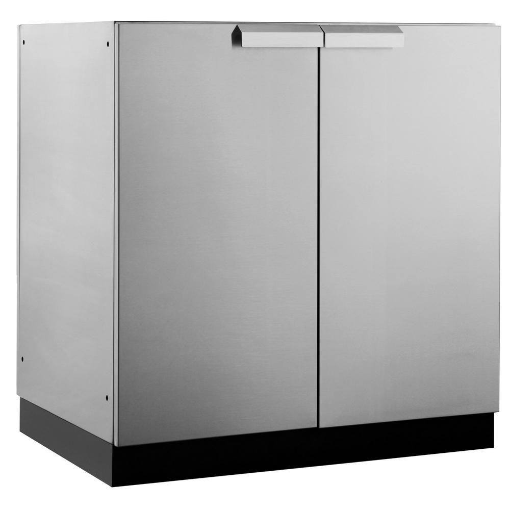 Stainless Steel Classic 32 In2 Door Base 32X35X24 Inoutdoor Inspiration Outdoor Kitchen Home Depot 2018