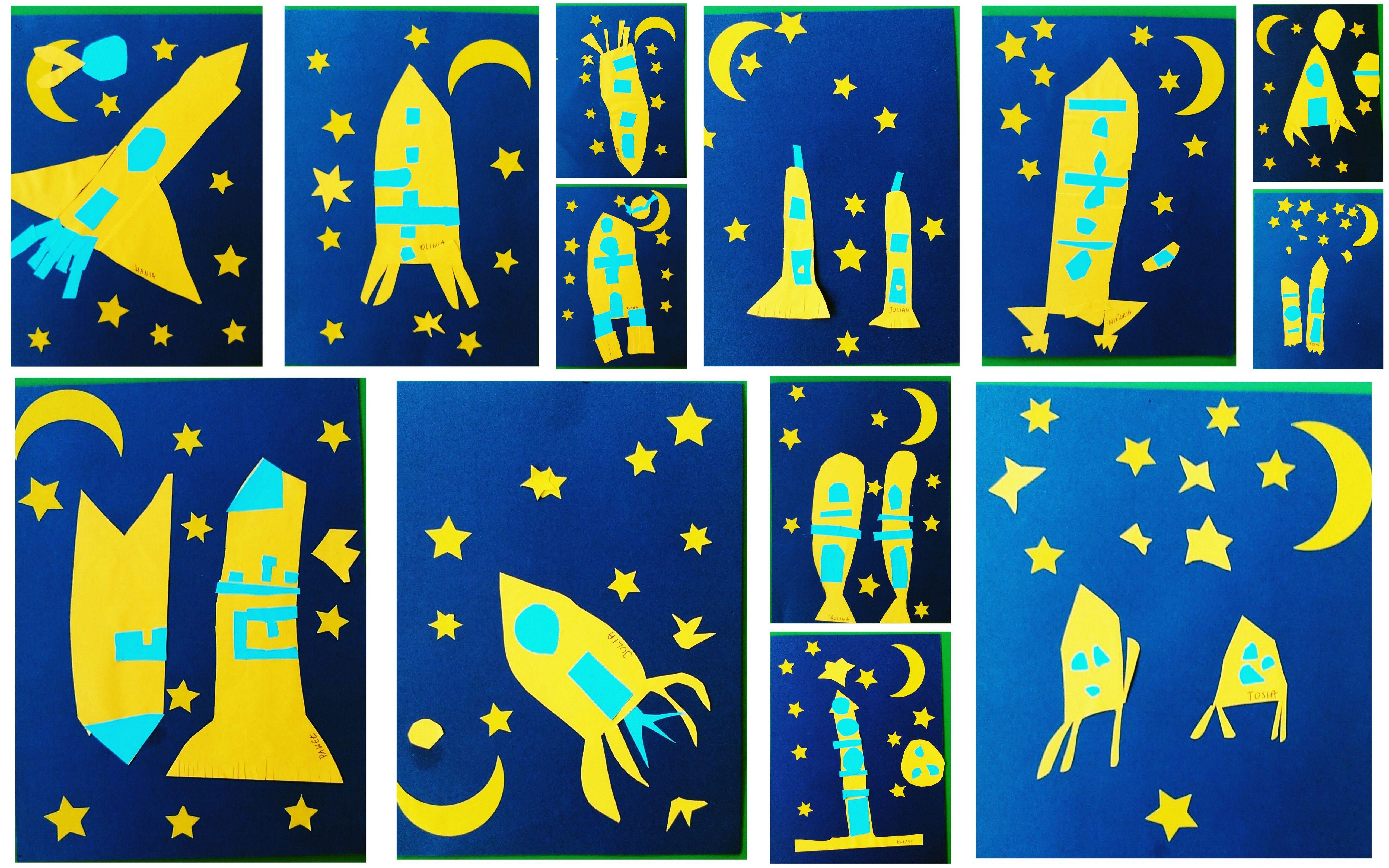 Rakieta W Kosmos Samodzielne Wycinanie 5 6 Lat Astronaut Craft Country Flags Eu Flag