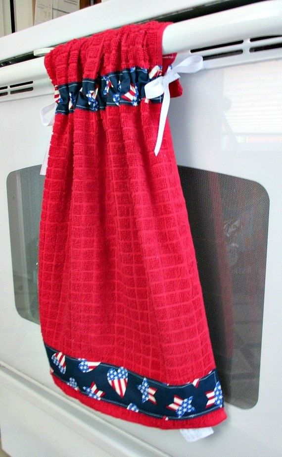 tie top towels red kitchen towels accented with americana themed rh pinterest com