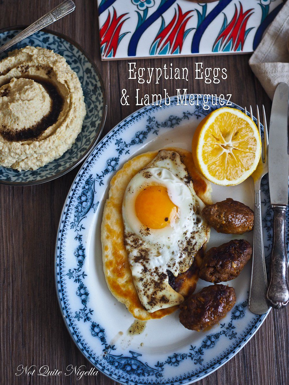 The Breakfast Club Egyptian Eggs Home Made Merguez Sausages