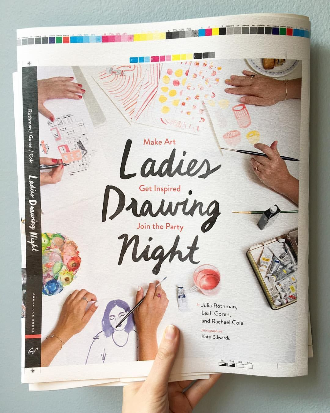 """juliarothman on Instagram: """"In honor of #internationalwomensday I wanted to share the cover proof for our Ladies Drawing Night Book coming out in the Fall. We are so excited to share projects, stories and advice from our own experiences and a huge handful of other incredible women. More to come in the next few months- can't wait #ladiesdrawingnight"""""""
