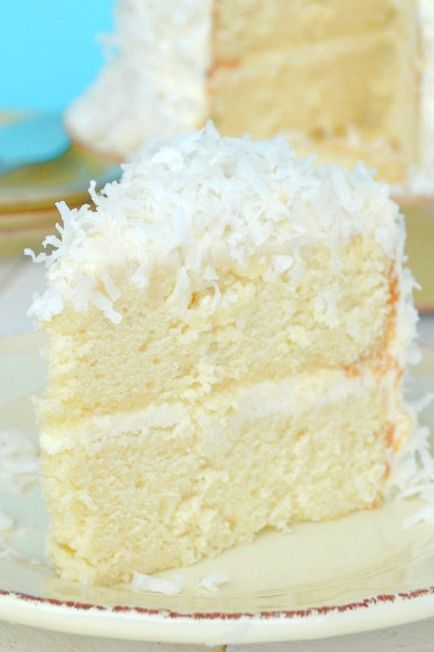 Coconut Cake with Coconut Cream Cheese Frosting -   23 coconut cake recipes