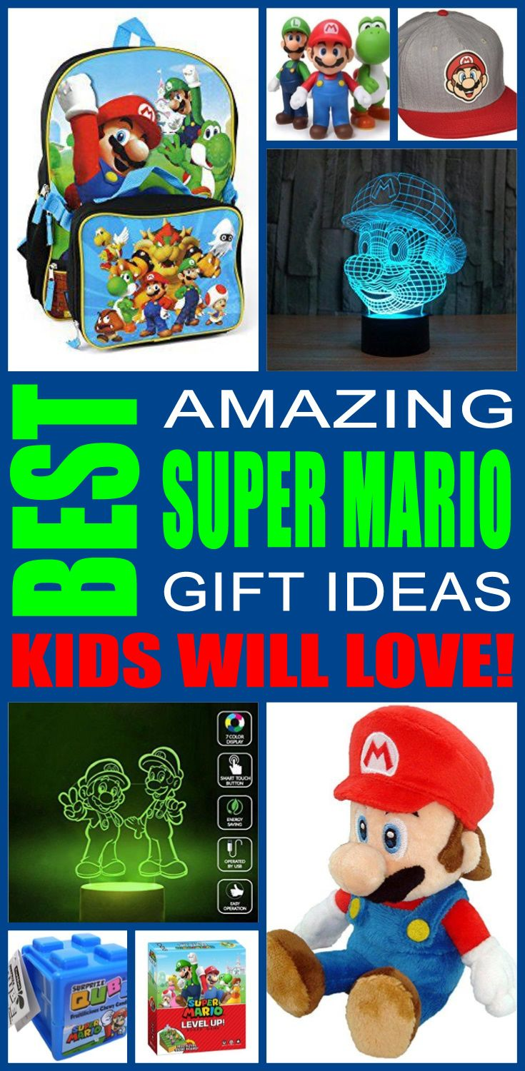 Super Mario gift ideas! Find fun super mario gifts for boys and girls. This  is the ultimate super mario gift guide that kids 07c6037f3