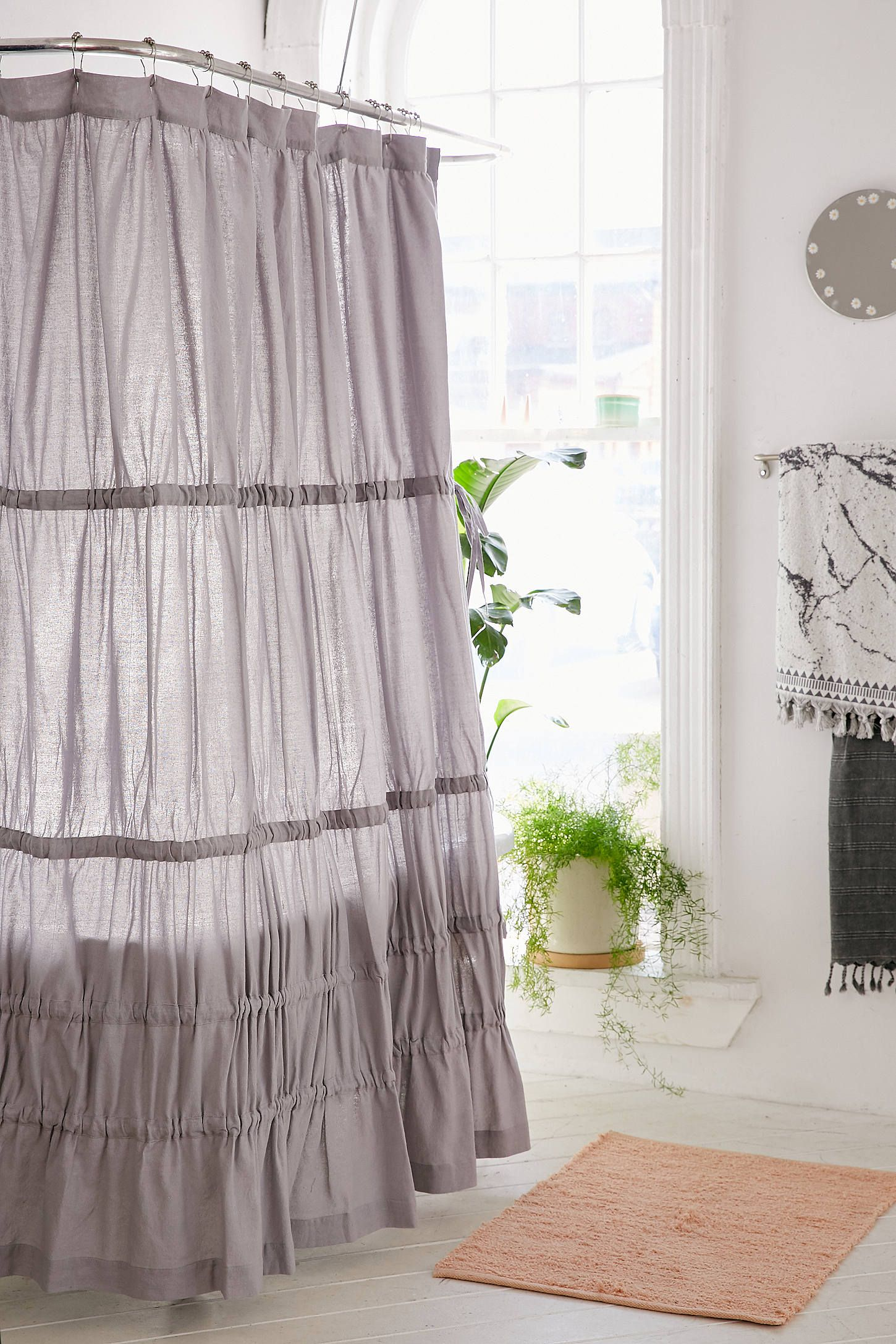 Shower Curtain Liner Ruffle Shower Curtains Curtains Shower