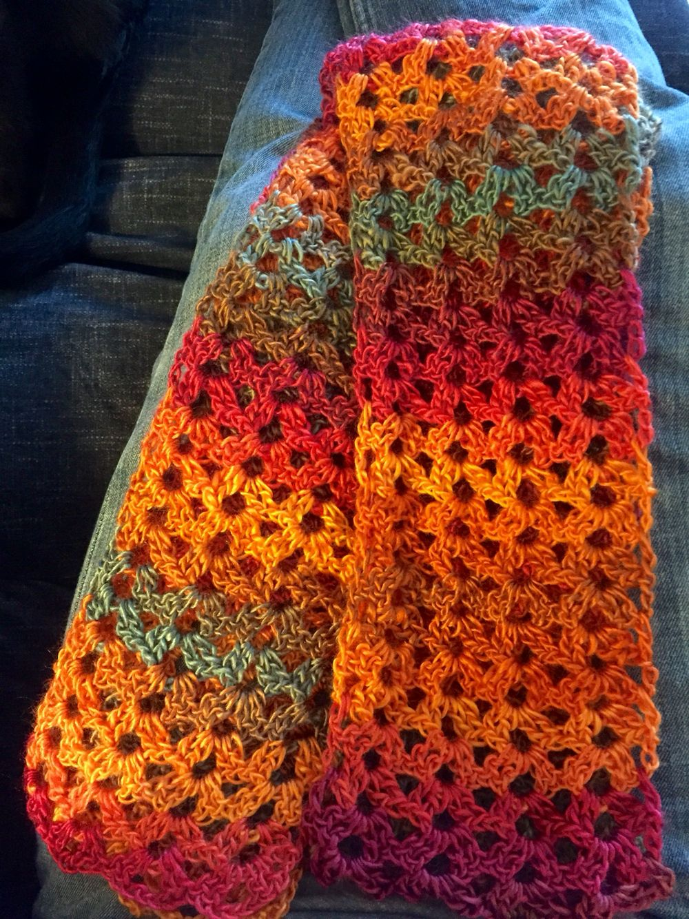 Free Crochet Patternland Lace Scarf Unforgettable Yarn