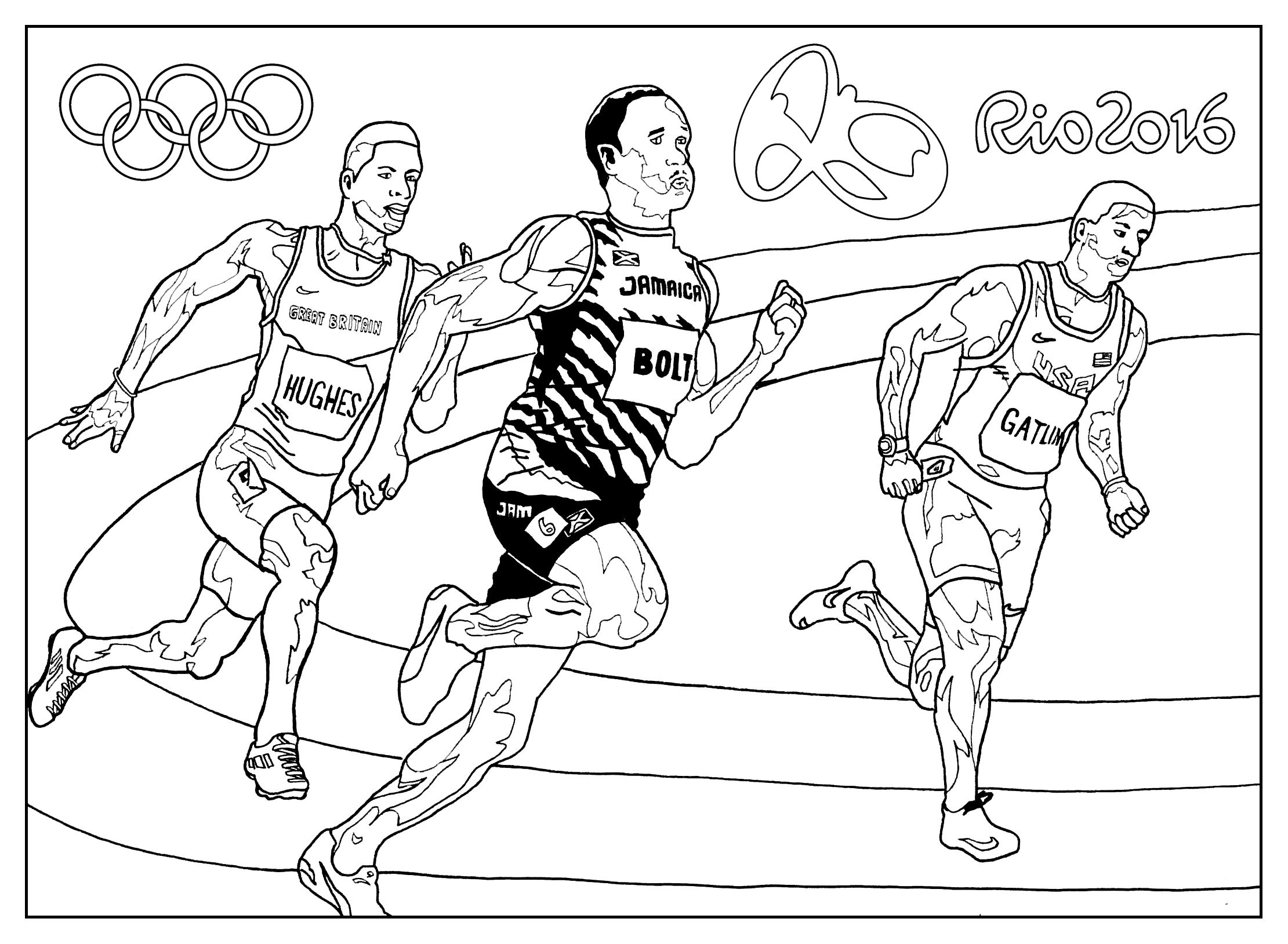 Free coloring page coloringadultrio2016olympicgames