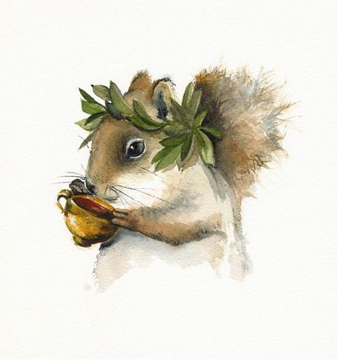 Art Vin Grec D Ecureuil Dionysos Ecureuil Art Squirrel Art Art Animal Art