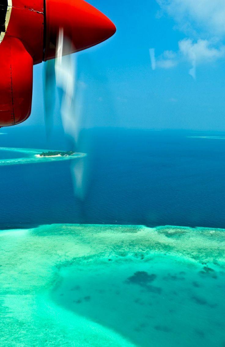 A Seaplane Flight over the Maldives
