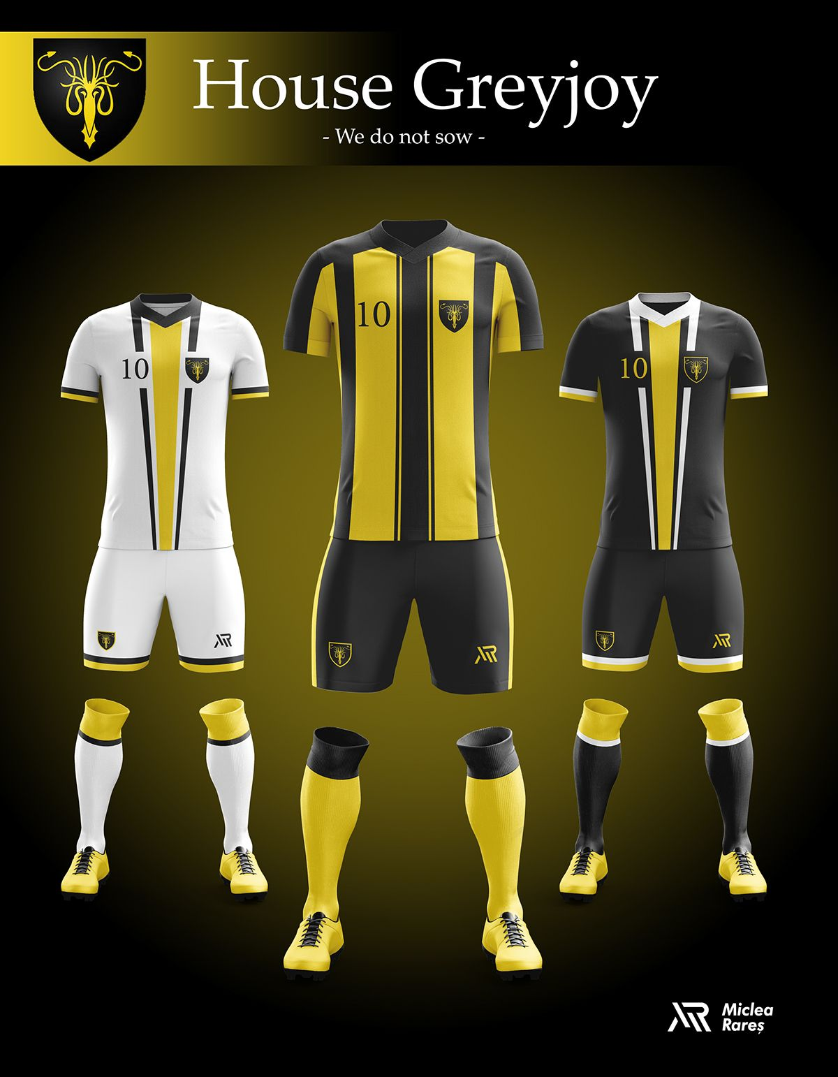 c249699f53 Concept - Game of Thrones football kits on Behance Clube