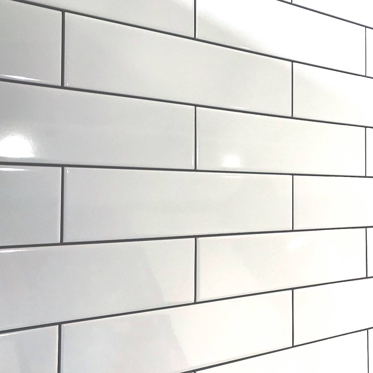 A Long Smooth Flat Brick White Gloss Ceramic Wall Tile By Demireks