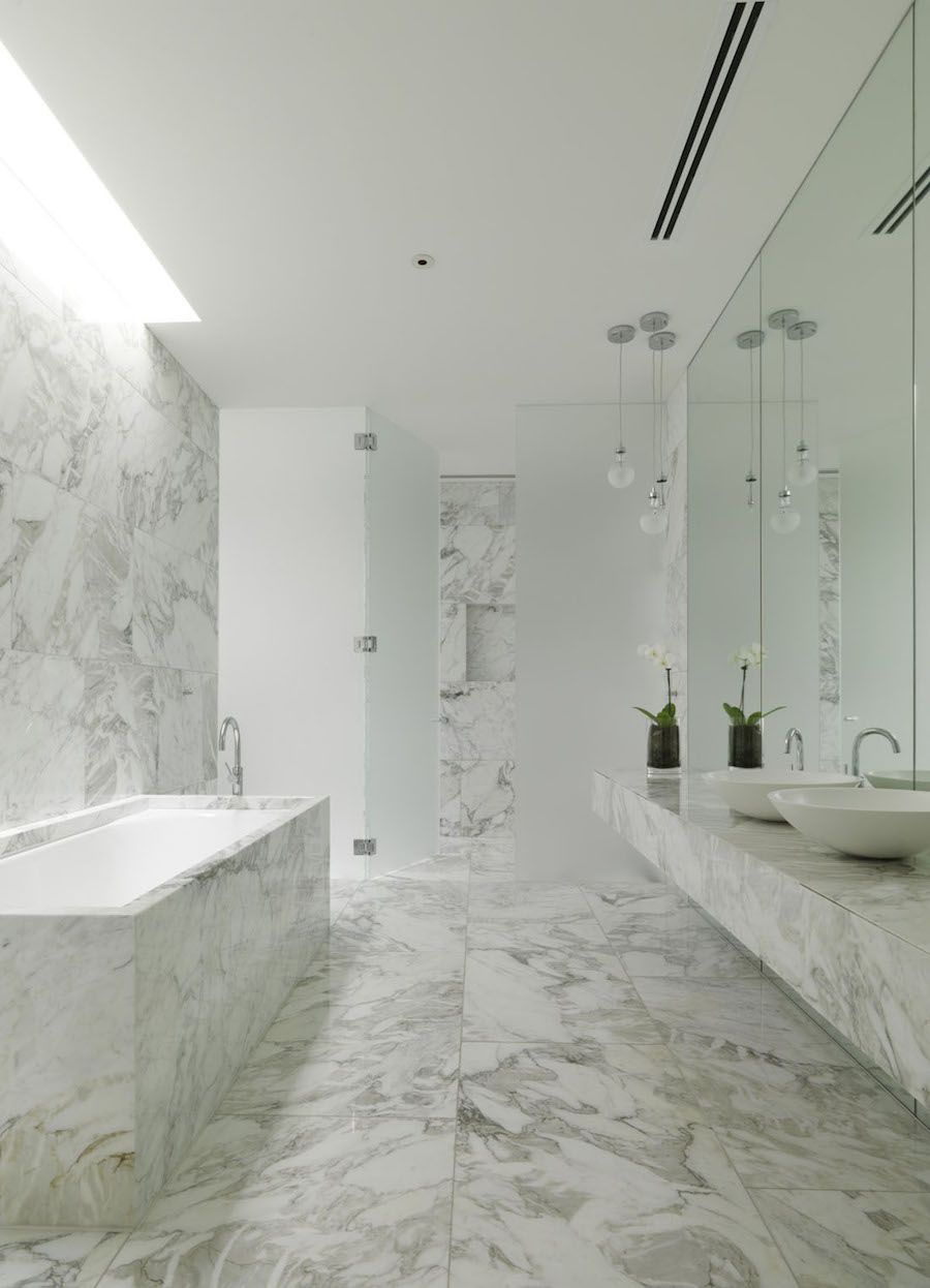 34 Stunning Marble Bathrooms With Silver Fixtures With Images