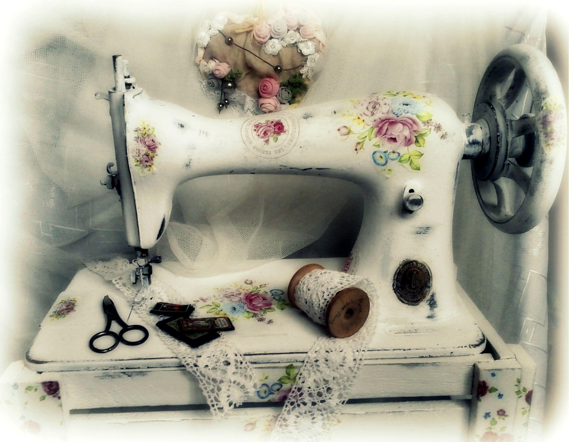открытка в виде швейной машинки дала мне