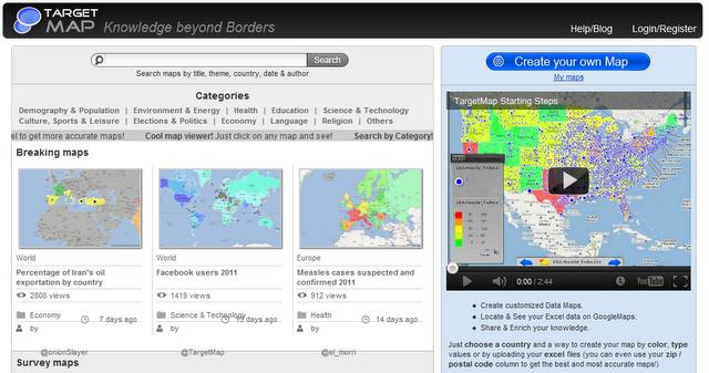 Target Maps Knowledge beyond borders