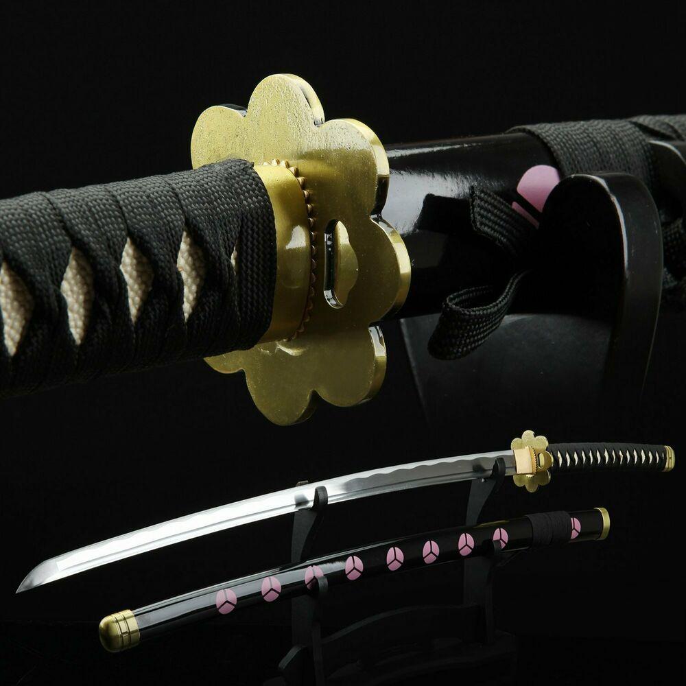 One Piece Roronoa Zoro Katana Sword 1045 High Carbon Steel Black
