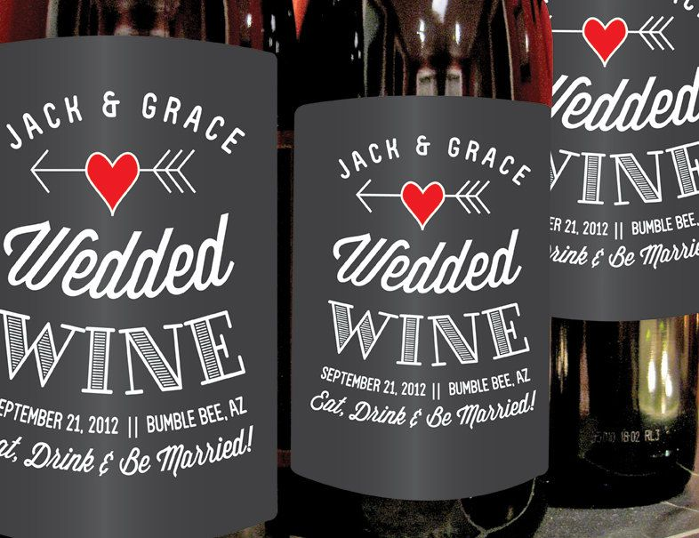 Custom Vintage Wine Labels For Weddings Special Occions