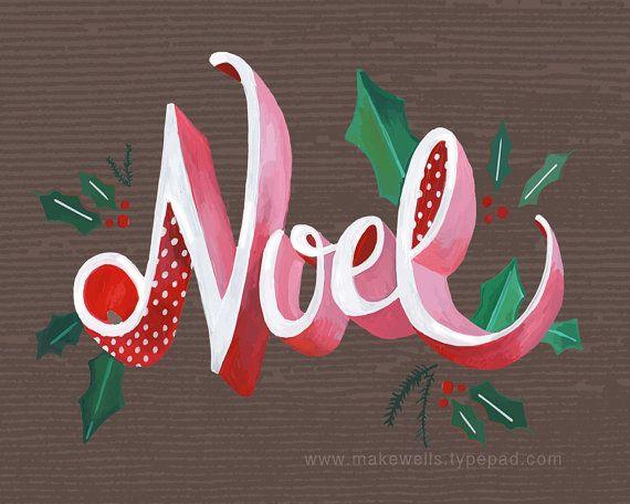Noel Illustration by Makewells on Etsy