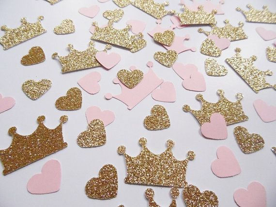 Hey, I found this really awesome Etsy listing at https://www.etsy.com/listing/224051486/princess-crown-confetti-pink-and-gold