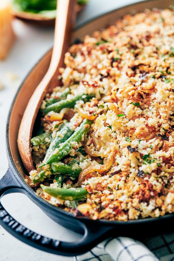 The green bean casserole is a famous Thanksgiving side, but even though it's the main ingredient is quite healthy the rest of it not so much. #openfit #healthy #thanksgiving #greenbeancasserole #greenbeancasserole