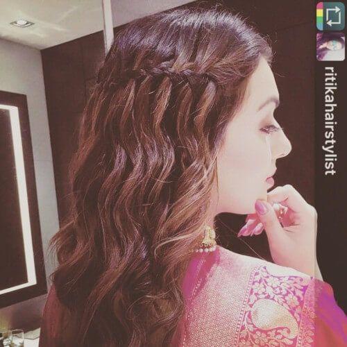 Hansika Motwani Waterfall Hairstyles Hair Styles Bollywood Hairstyles Short Hair Model