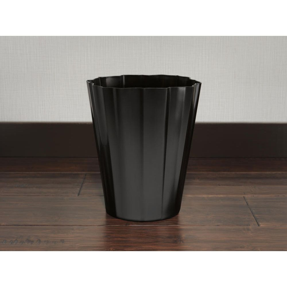 This Jason Wu Trash Can In Matte Black From Brizo Pulls