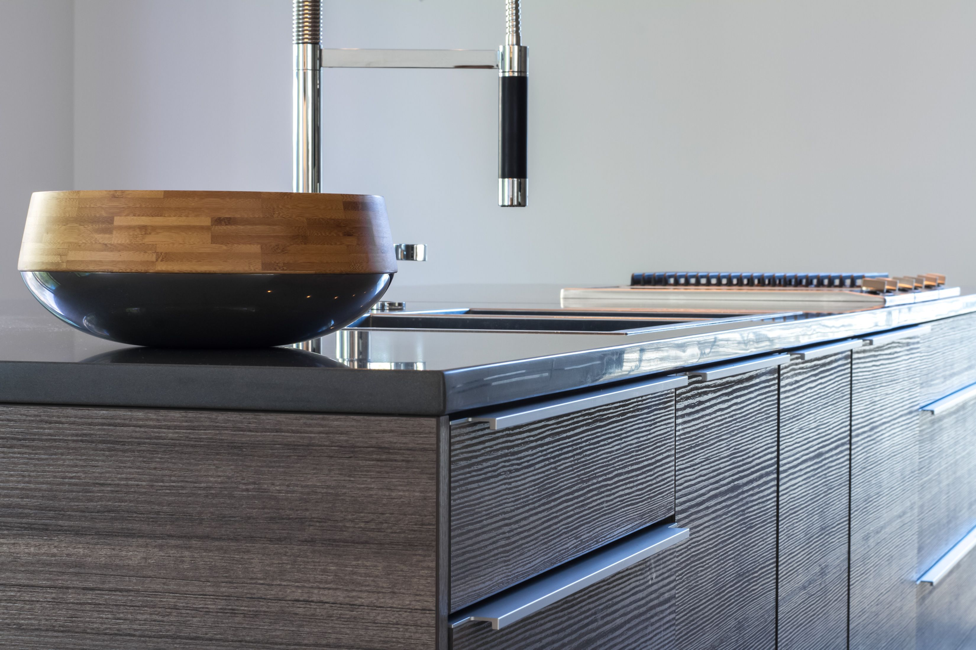 Modern kitchen with Poggenpohl cabinetry, Miele refrigerator ...