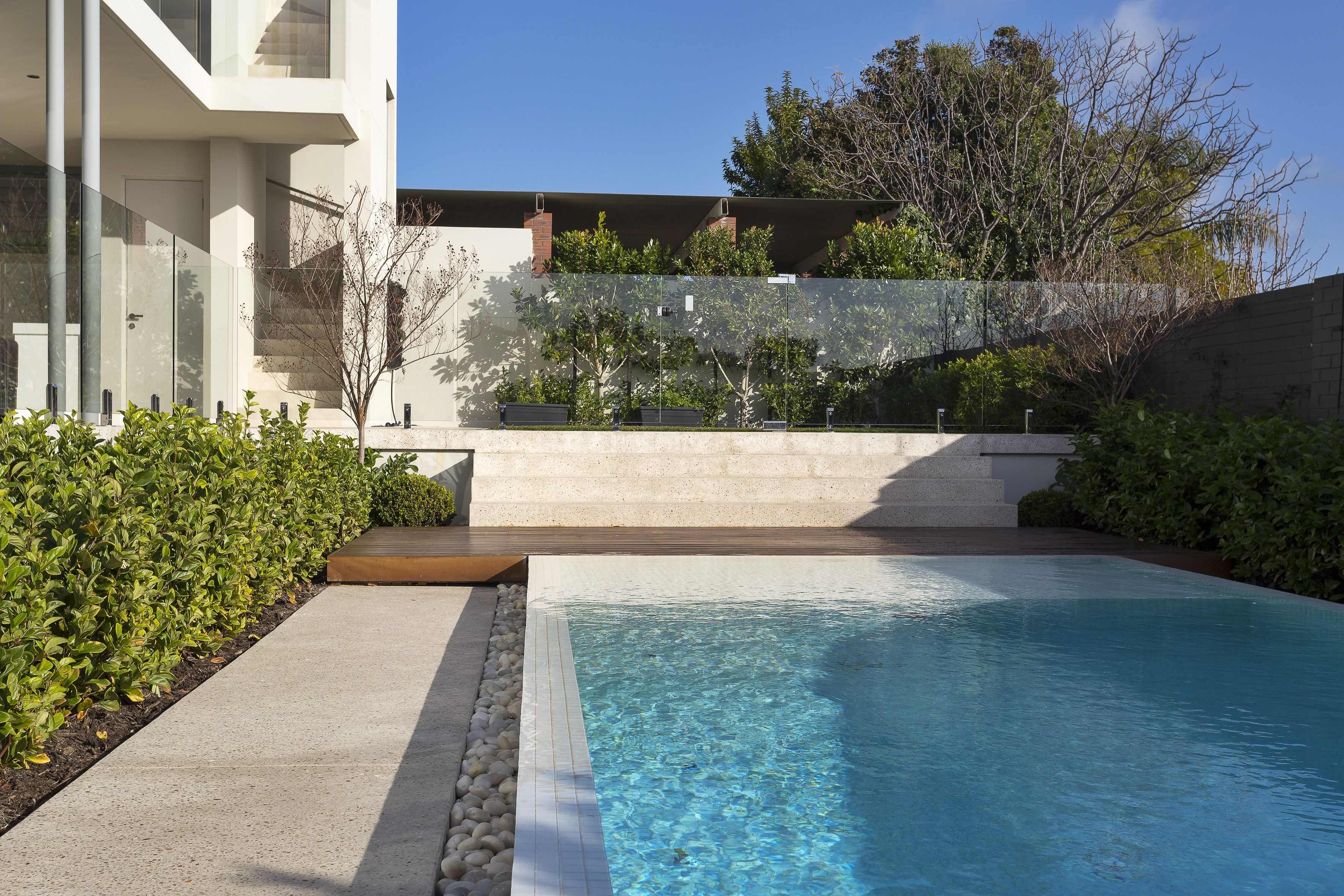 residential infinity pools. Infinity Pool, Tiled Pebble Edging, Glass Fence. Residential Pools A