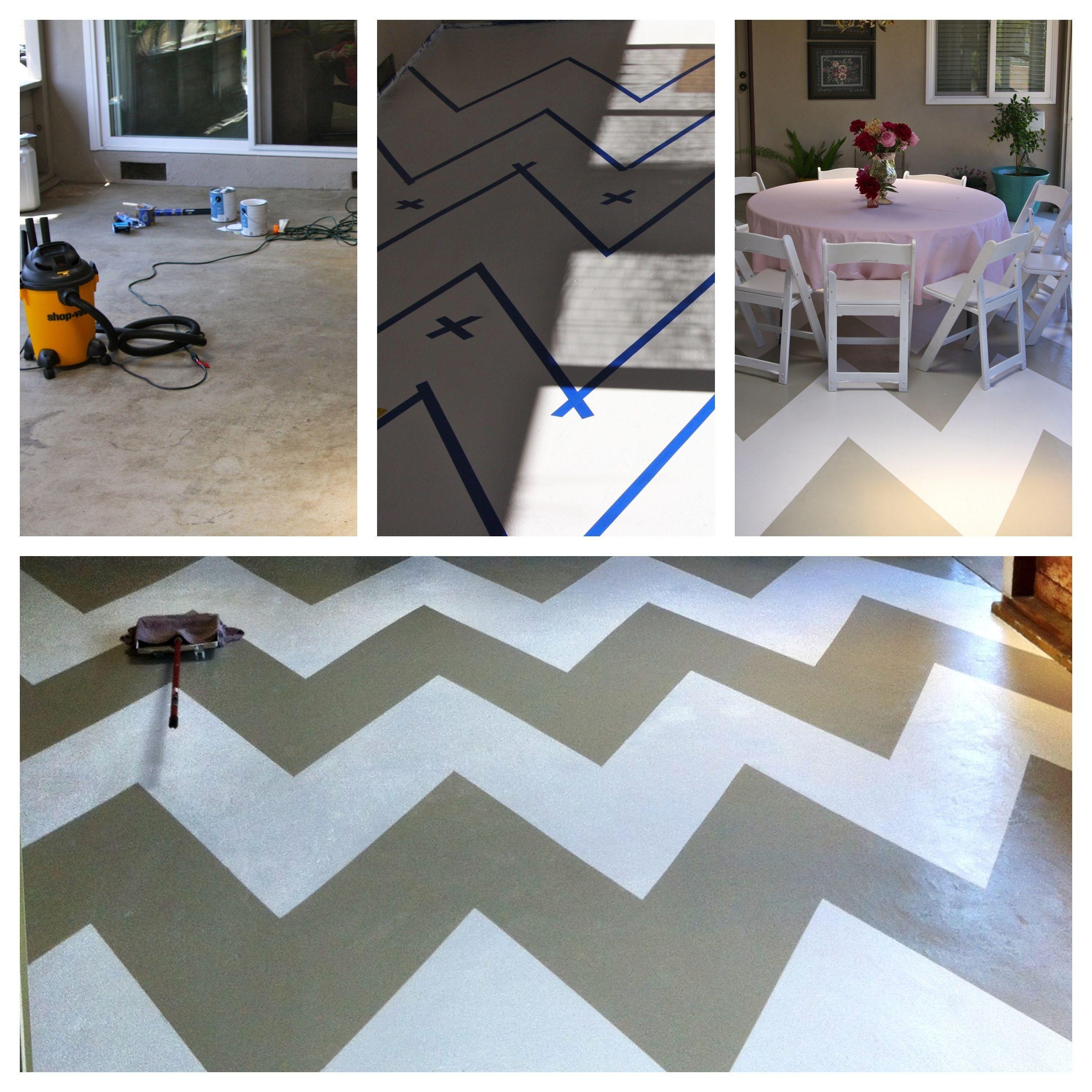 I Painted My Concrete Patio Floor Backyard Plastic