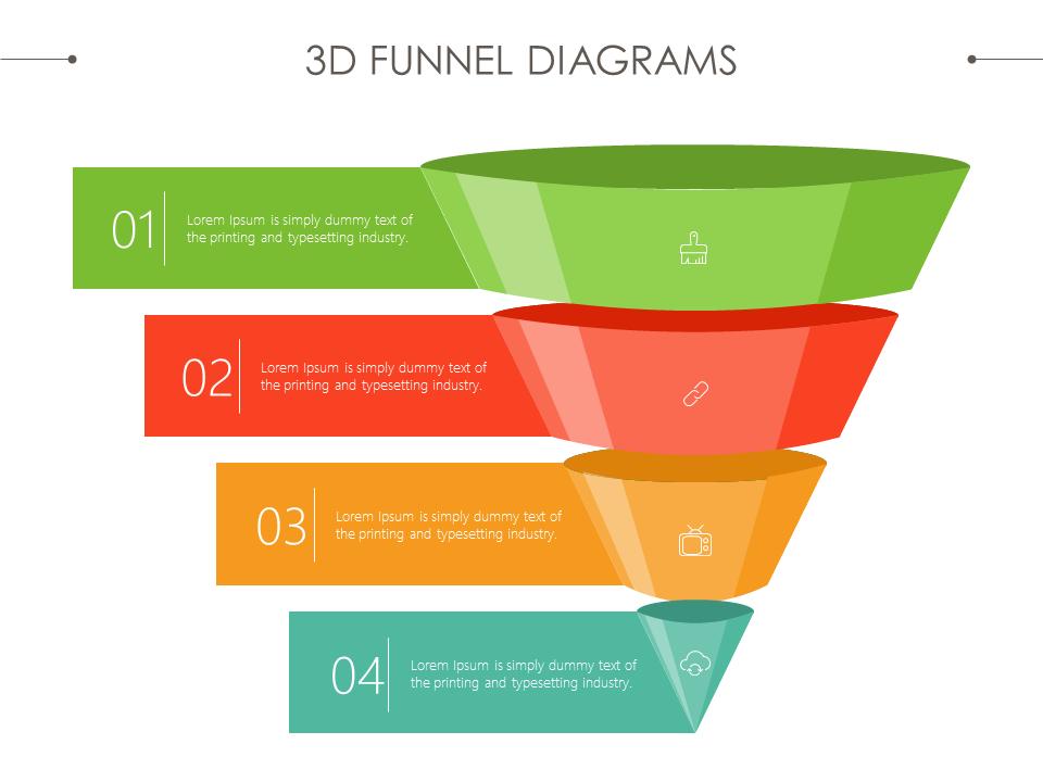 3D funnel diagram #sales #marketing #powerpoint