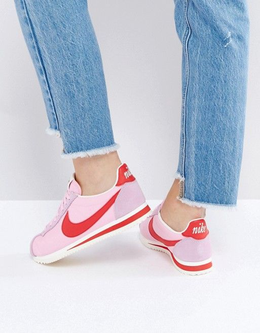 Nike Classic Cortez Sneakers In Retro Leather